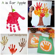 Fall Handprint Craft Ideas for Kids - Crafty Morning
