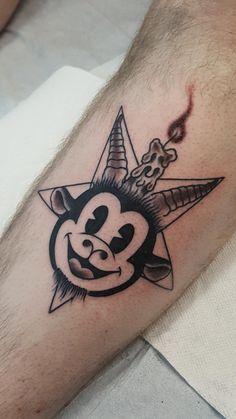Pie-eyed Baphomet by Giovanni, Electric 13 Tattoo, Austin TX : tattoos