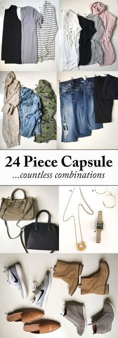 One of my favorite posts to date! Sharing a functional, comfy & chic Fall Capsule Wardrobe for busy moms! Only 25 affordable pieces & countless combos!