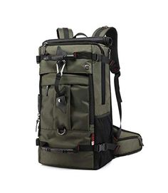 56460ca48c745 Great for Vovoly Travel Laptop Backpack Waterproof Large Business Backpack  50L Army Green 22.4 x 13