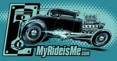 Another Jeff Norwell designed sticker for MyRideisMe.com - Model A hot rod!