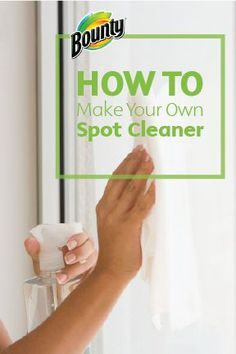 Making your own Homemade Spot Cleaner is quick and easy in just 3 simple steps with this recipe brought to you by Bounty Paper Towels. Spot cleaner is your first line of defence against stains, and you can easily make this DIY cleaning solution in any of your favorite scents.