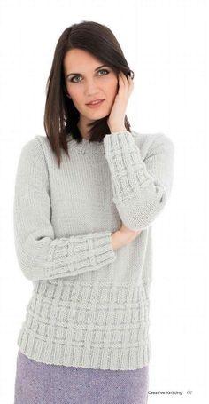 Пуловер с текстурным узором. Обсуждение на LiveInternet - Российский Сервис Онлайн-Дневников Sweater Weather, Cardigans For Women, Crochet Clothes, Knitwear, Jumper, Knitting Patterns, Knit Crochet, Turtle Neck, How To Wear