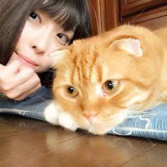 . . . まる太くんと📷💕 . #selca #selfy #me #ねこ #愛猫 #セルカ #ツーショット #お洒落な人と繋がりたい #お洒落さんと繋がりたい #お洒落 #写真好きな人と繋がりたい #写真撮ってる人と繋がりたい #古着好きな人と繋がりたい