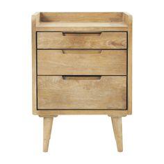 Nachttisch im Vintage-Stil aus Mangoholz mit Schubladen, B 45cm Trocadero | Maisons du Monde...