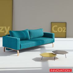 Cassius Coz #sofabed by Innovation Living is a perfect seating and sleeping comfort with Oak legs. Available at loftmodern.com