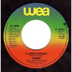 """Change - A lover's holiday / The glow of love 1980 7"""" vinyl single record K79141 Listing in the Vinyl,Music & CD Category on eBid United Kingdom 