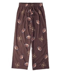 Loving this Oak Brown Football Pajama Pants - Toddler & Boys on #zulily! #zulilyfinds