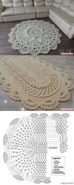 The crochet rug you saw in the picture. Crochet Rug o Crochet Flower Hat, Crochet Mat, Crochet Carpet, Mode Crochet, Crochet Cushions, Crochet Pillow, Crochet Mandala, Crochet Home, Filet Crochet