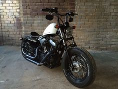 Orests' Harley Sportster 48 with a custom narrow set of our Zombi Killer bars | Rocket Bobs
