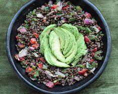 A2K - A Seasonal Veg Table: Black Beluga Lentil Salad with Avocado