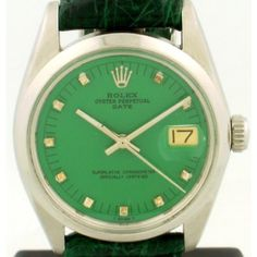 1968 Kelly Green Rolex Watch i want a rolex watch from here http://www.shop.com/sophjazzmedia/oJewelry%5FWatches-~~rolex-g5-k30-internalsearch+260.xhtml