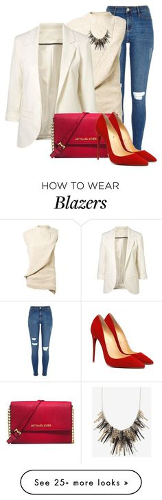"""Untitled #950"" by mkomorowski on Polyvore featuring River Island, Victoria Beckham and Michael Kors"