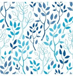 Blue forest seamless pattern background vector - by Oksancia on VectorStock®