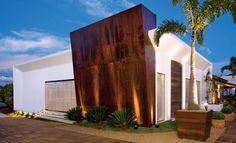 Detalhe em Aço Corten da Área Gourmet da Casa Cor Brasilia 2009