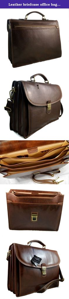 Leather briefcase office bag men ladies bag business leather bag shouder bag messenger document bag leather handbag dark brown. Our handbags are manufactured 100% in Italy, handcrafted with the highest quality materials, to create a beautiful and durable product. Genuine Italian leather and fine detailing, make this an essential product to have, as good or better than any luxury item you will find in other stores. Our motto is: Made in Florence, Italy, shipped from Florence, Italy! This...