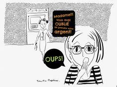 Quand j'oublie mon argent dans un distributeur... #sandramaestrini,#lesbourdesdesandra