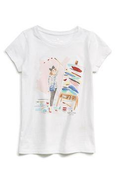 kate+spade+new+york+kids+'caitlin'+graphic+print+tee+(Big+Girls)+available+at+#Nordstrom
