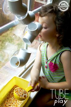 "{Tube Play} How we transformed PVC pipes into a ""fall"" wall. - Kids Activities Blog"
