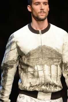 Dolce & Gabbana Men's Spring 2014: 18th-Century Engravings of Sicilian Classical Ruins and Antiquities