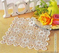 Crochet: Square doily crochet