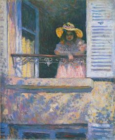 ๑ Nineteen Fourteen ๑ historical happenings, fashion, art & style from a century ago - Jeune fille à la fenêtre,1914, Henri Lebasque (1865-1937)