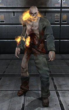 Flaming Zombie Doom 3, Deadpool, Superhero, Fictional Characters, Art, Art Background, Kunst, Fantasy Characters, Art Education
