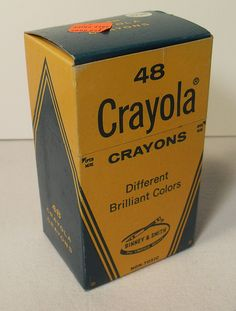 Crayola Crayons (Vintage 1960s Box of 48): I loved to color ... still do, as a matter of fact ... and am definitely a color-inside-the-lines kind of girl.