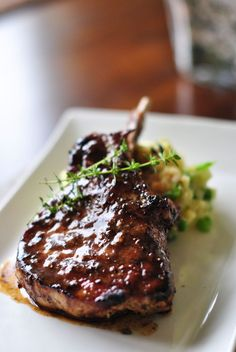 Pork Chop with Balsamic Maple Glaze | black dog :: food blog  Amazing glaze - will make again  Baked w/ glaze @ 350 for 1 hr 15 min  3 med pork loins