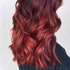 Melted-Fire... beautiful blend By @constancerobbins using @matrixhaircare  #behindthechair #thisgirlisonfire #redhairdontcare #matrixcolor by behindthechair_com