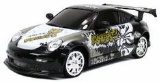 Porsche 911 GT Graffiti Electric RC Drift Car 1:18 4WD RTR (Colors May Vary) by Velocity Toys. Save 57 Off!. $29.95. Requires Ni-Cd 700mAh 4.8V AA Battery Pack to run (Included)  Remote Control requires Two AA Batteries to run (Included). Front Wheel Alignment  Chrome Wheels wrapped in Slick Drift Tires  Extra Set of Rubber Grip Tires  Working Front and Rear Lights. Features:  Modeled After the Classic Porsche 911 Design!  Electric Powered (Rechargeable)  Full Function (Go Forward a...