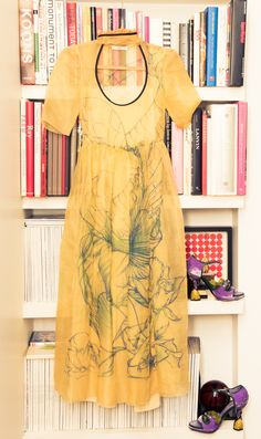 """""""I feel sentimental about a lot of pieces in my wardrobe, but the yellow organza fairy-print Prada dress that I wore to my civil wedding seven years ago evokes a lot of tender memories and emotions."""" http://www.thecoveteur.com/serafina-sama-isa-arfen/"""