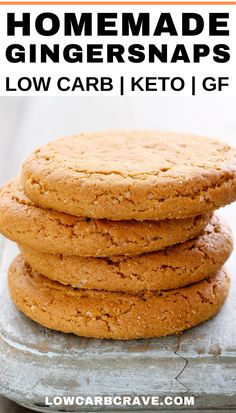 Learn how to make these delicious healthy ginger cookies. An all-time favorite dessert recipe for the holiday season or anytime of the year. Keto Cookies, Sugar Free Cookies, Best Sugar Cookie Recipe, Gluten Free Cookie Recipes, Homemade Cookie Recipe, Low Carb Dinner Recipes, Healthy Dessert Recipes, Diet Recipes, Keto Desserts