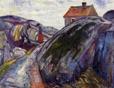 Edvard Munch, Spring Work in the Skerries, 1910 on ArtStack #edvard-munch #art