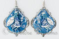 Frost Fairies Earrings Winter Fairy Earrings Snow por DeidreDreams, $180.00