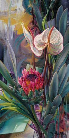 New Arrivals Flower Diamond Painting Protea Art, Art Floral, Lotus Flower Art, China Art, Watercolor Paintings, Flower Paintings, Amazing Art, Canvas Art, Artwork