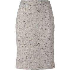 Chanel Vintage Bouclé Pencil Skirt (45.970 RUB) ❤ liked on Polyvore featuring skirts, vintage pencil skirt, high-waist skirt, high waisted short skirts, pocket skirt and chanel