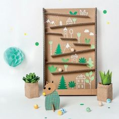 Crafts For Boys, Diy For Kids, Arts And Crafts, Cardboard City, Cardboard Crafts, Toddler Fun, Wooden Diy, Fabric Dolls, Preschool Activities