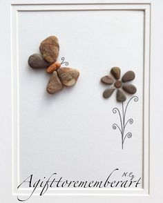 "The little butterfly""  showing nature's beauty with nature  #agifttorememberart #pebbleart…"""