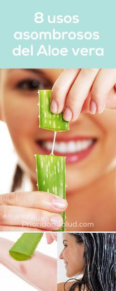 8 propiedades asombrosos del aloe vera. Descubre los beneficios del aloe vera para la piel, el cabello, como mascarilla, o en jugo u otra bebida, aprovecha la planta savila o aloe vera.