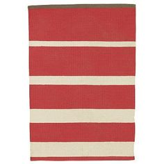 9X12 Gradiated-Stripe Cotton Rug $299 - Amazing deal!  Love it for Family Room.  Also comes in navy/gray with red edge
