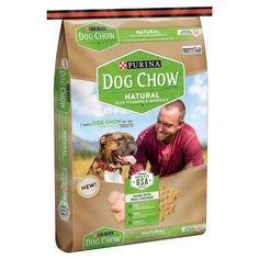 Purina Dog Chow Natural Plus Vitamin and Minerals Dry Dog Food 32lb Bag