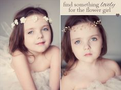 flower girl hair crown #handmade #wedding