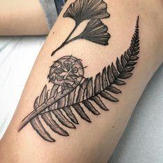 Fern and a fiddle Nautilus Tattoo, Shell Tattoos, Fern Tattoo, Body Modifications, Body Mods, Ferns, Tattoo Inspiration, Cool Tattoos, Tatting