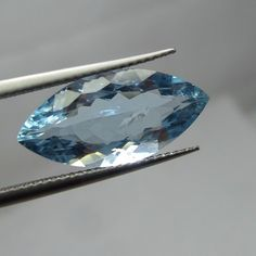 5.2 Cts 19.4x9.4 MM Natural Blue Color Marquise Shape Nice Cut Faceted Stone  #NAAZGEMS