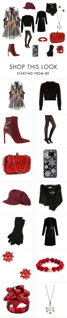 """""""christmas party"""" by viviana-candidi-petrova on Polyvore featuring moda, Elie Saab, Helmut Lang, Nine West, Samsung, kangol, Polo Ralph Lauren, Bourbon and Boweties e Lily Charmed"""