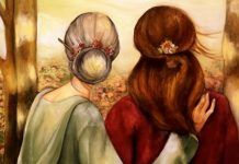 Mother and daughter our walk art print by claudiatremblay on Etsy Mother Daughter Art, Mother Art, Claudia Tremblay, Bff Drawings, Ouvrages D'art, Art Et Illustration, Fine Art Paper, Wall Art Decor, Sketches