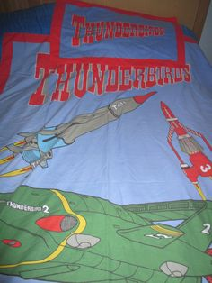 Thunderbirds Tracy Island Design Single Bed Duvet with Pillowcase. Thunderbirds Are Go! Kids Fabric OOAK by AtticBazaar on Etsy Thunderbirds Are Go, Duvet Bedding, Island Design, Science Fiction, Duvet Covers, Pillow Cases, Fabric, Kids, Etsy
