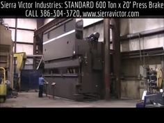 Available at Sierra Victor Industries: 600 Ton x 12' - 20' STANDARD INDUSTRIAL® Hydraulic CNC Press Brakes. MODEL AB600. For more information or to order, CALL TODAY 386-304-3720, VISIT http://sierravictor.com/index.php?dispatch=products.view&product_id=2126