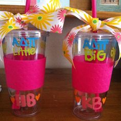Matching big and little tumblers!